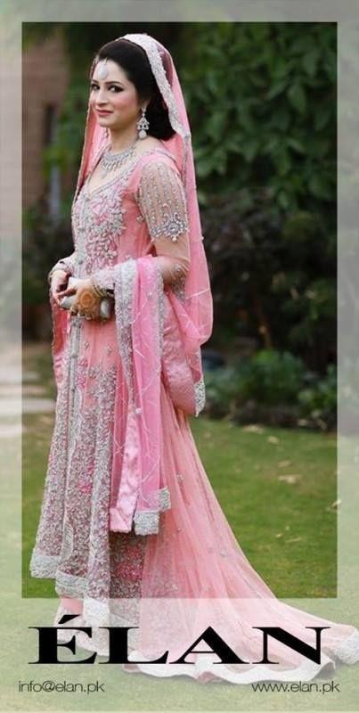 Pakistani Designer Pink Bridal Dress by Elan   Pakistani Bridal ...