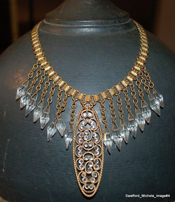 Vintage Antique Flapper Necklace by MADEINTHEDEEPSOUTH on Etsy, $258.00