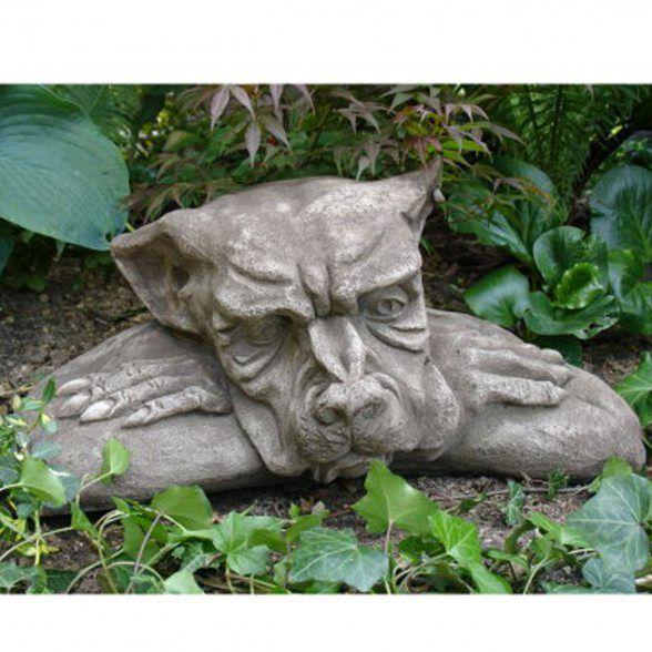 Vidroflor Gartenfigur Gargoyle Fensterhocker Faul B H T 50 28 30 Cm 29 Kg Aus Massivem Steinguss Gartenfiguren Gartenstatue Steinfiguren