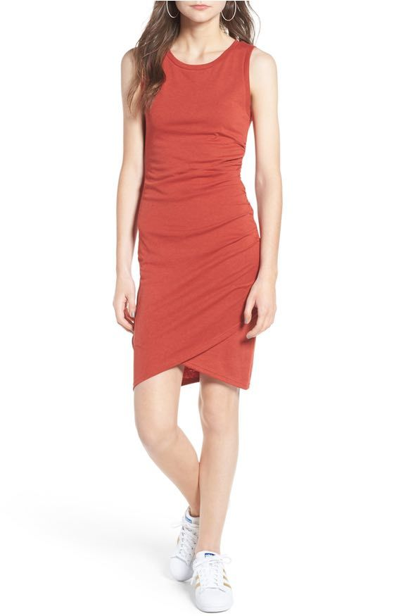 Leith ruched bodycon tank dress los angeles rochester