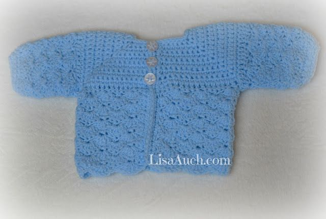 Free Crochet Patterns Babies Cardigan Boy Newborn Crochet 2
