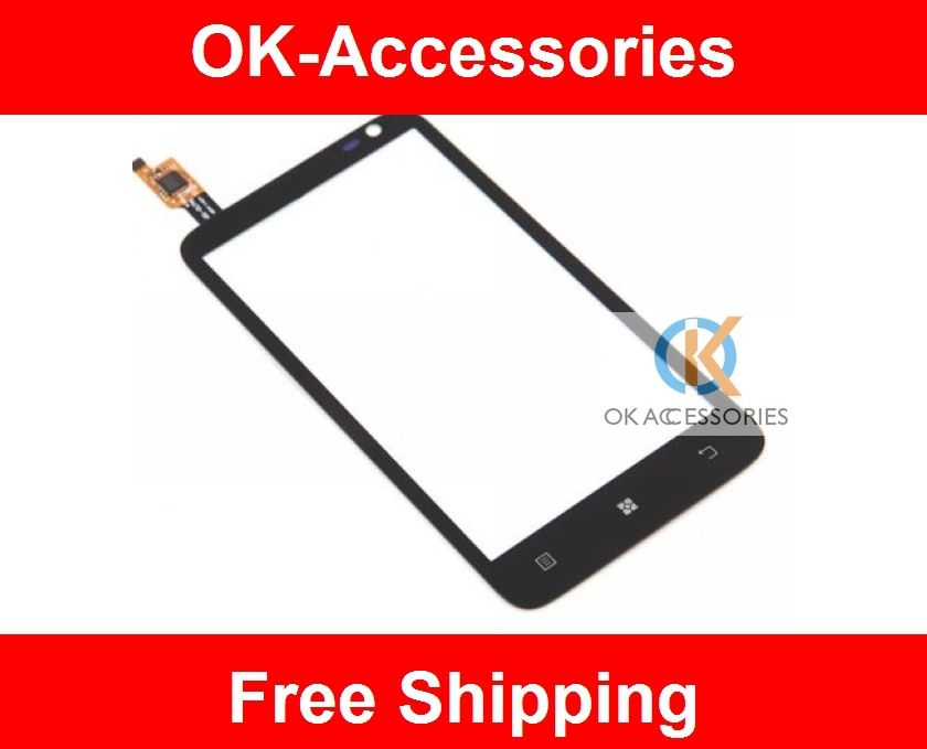 For Lenovo S720 Touch Screen Digitizer For Lenovo S720 Touch Panel  black color 1PC/Lot High Quality