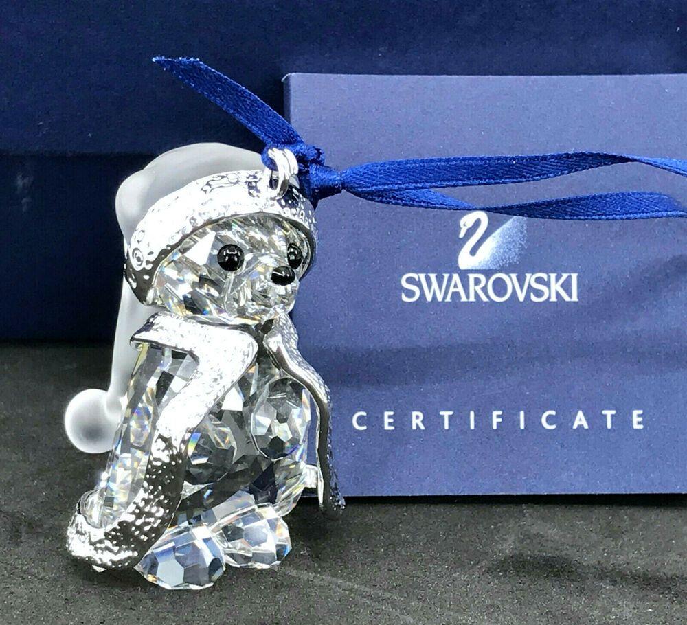 Swarovski Kris Santa Bear 2006 Crystal Christmas Ornament