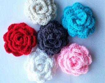 Hand Crocheted Flower Stud Earring HolderAccessory for Jewelry