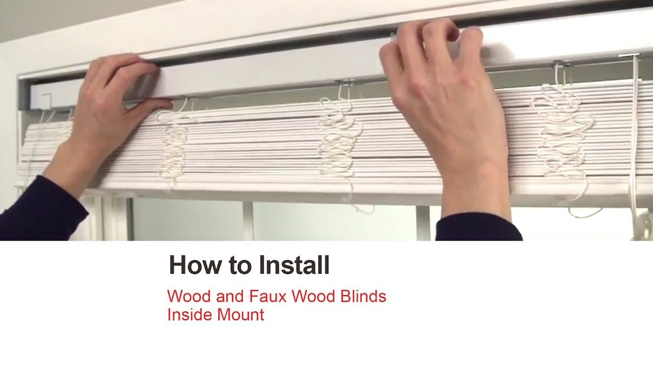 Bali Blinds How To Install Wood And Faux Inside Mount