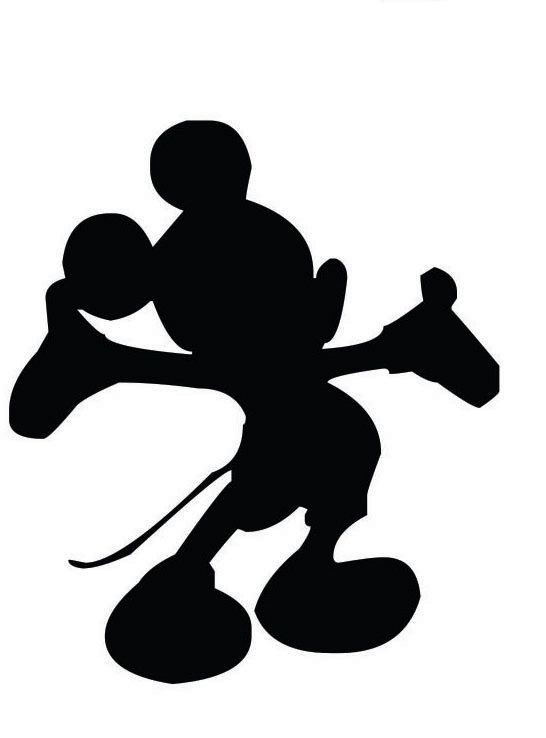 Mickey Mouse Disney Silhouette Custom Vinyl Graphic by ...