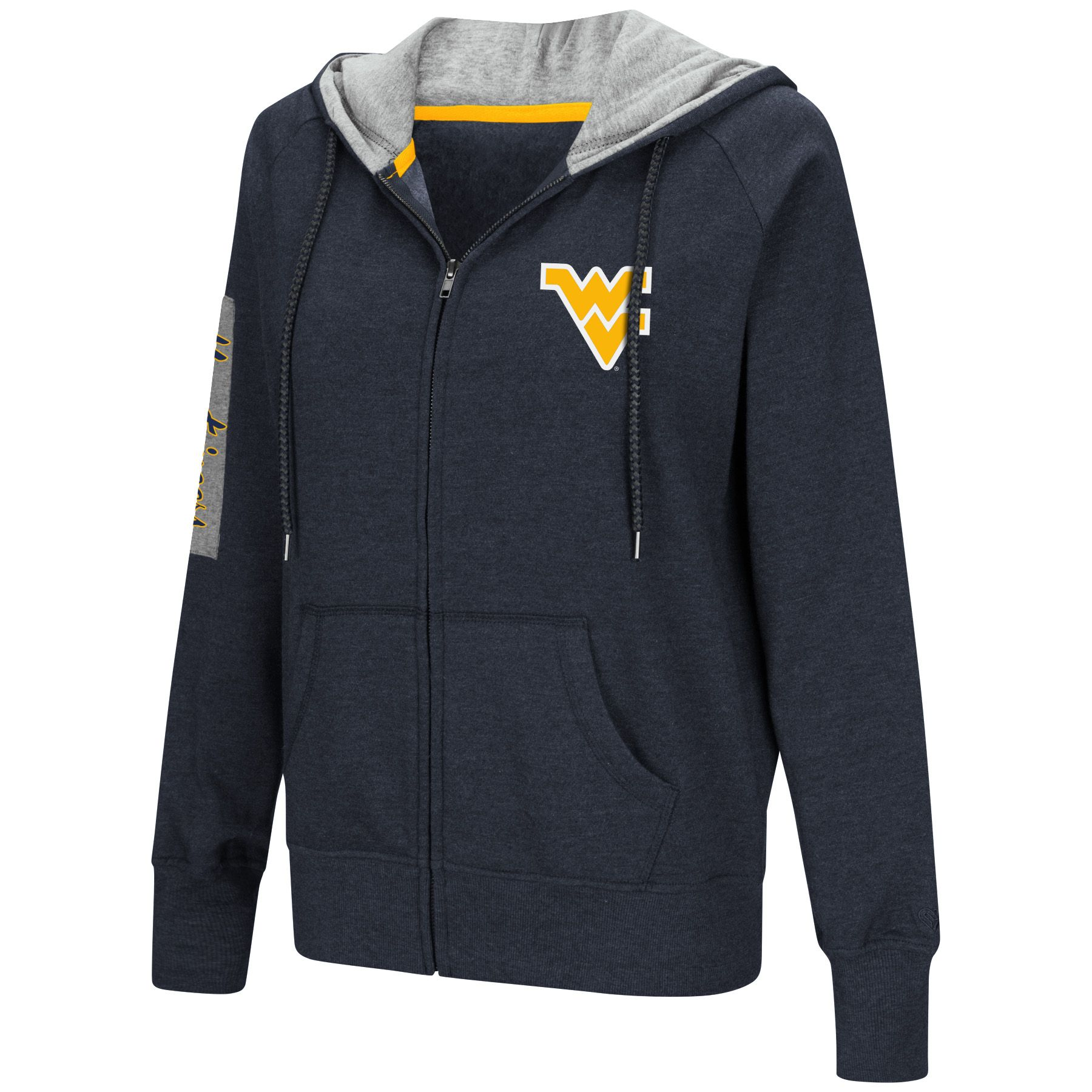 e5a460d35f8a70 With our women s Colosseum WVU platform full zip hoodie