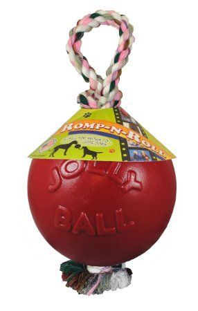 Jolly Pet 8 Inch Romp N Roll Red Dog Toys Gdb Approved Dog
