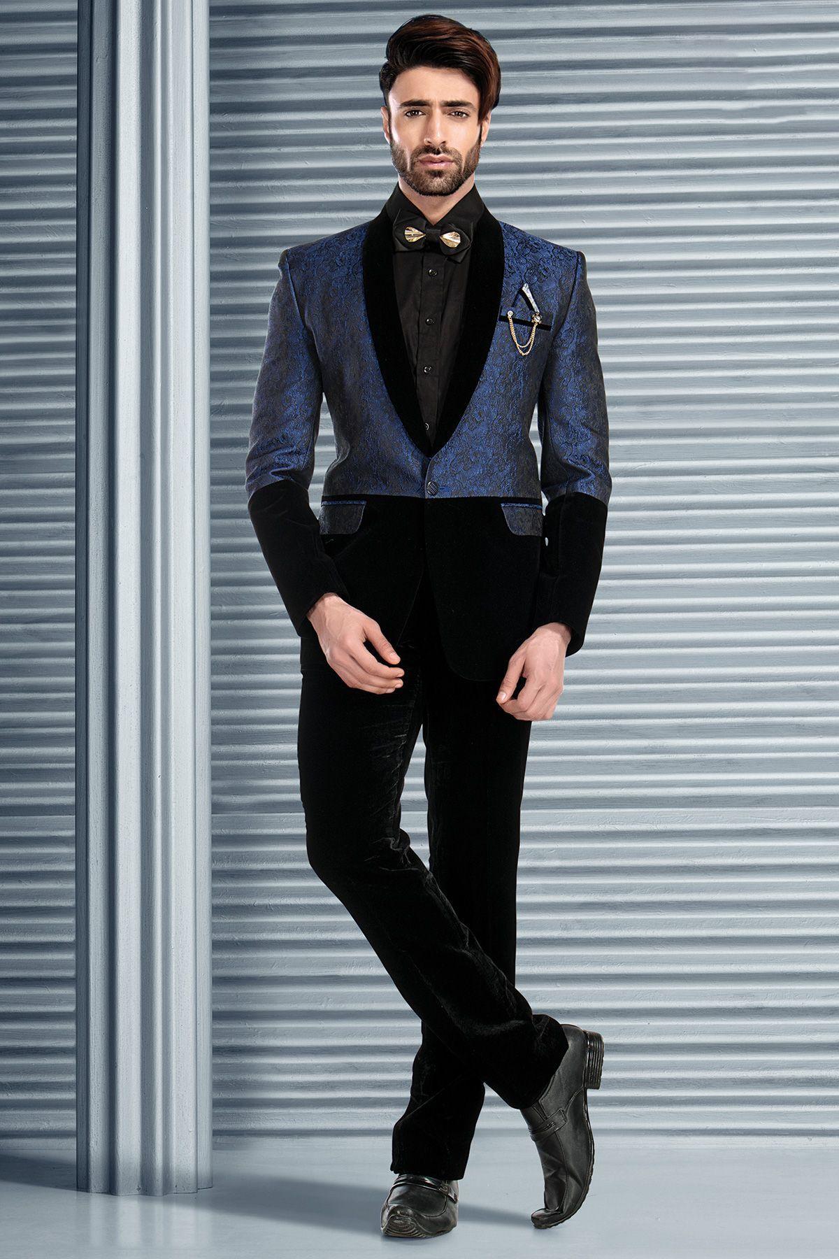 Blue Brocade Tuxedo Suit-ST604 | TUXEDO SUITS | Pinterest | Buy ...