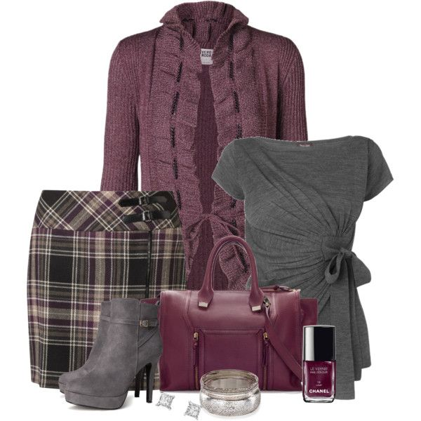 Plaid Pencil Skirt, created by immacherry on Polyvore