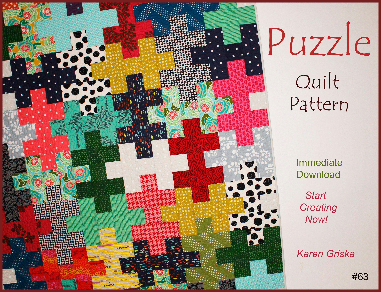 Puzzle Quilt Pattern Easy Quilt Scrap Quilt T Quilt