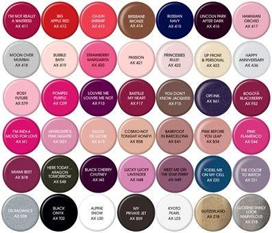 Opi Gel Color Chart Opi Gel Nail Polish Colors Opi Gel Nails