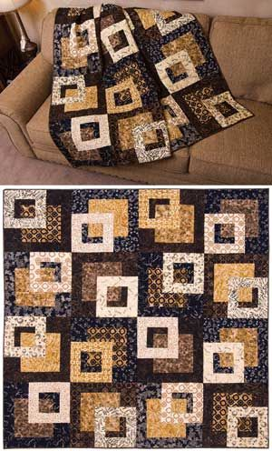 Its Good To Be Square Quilt Kit I Made This In Black Yellow And