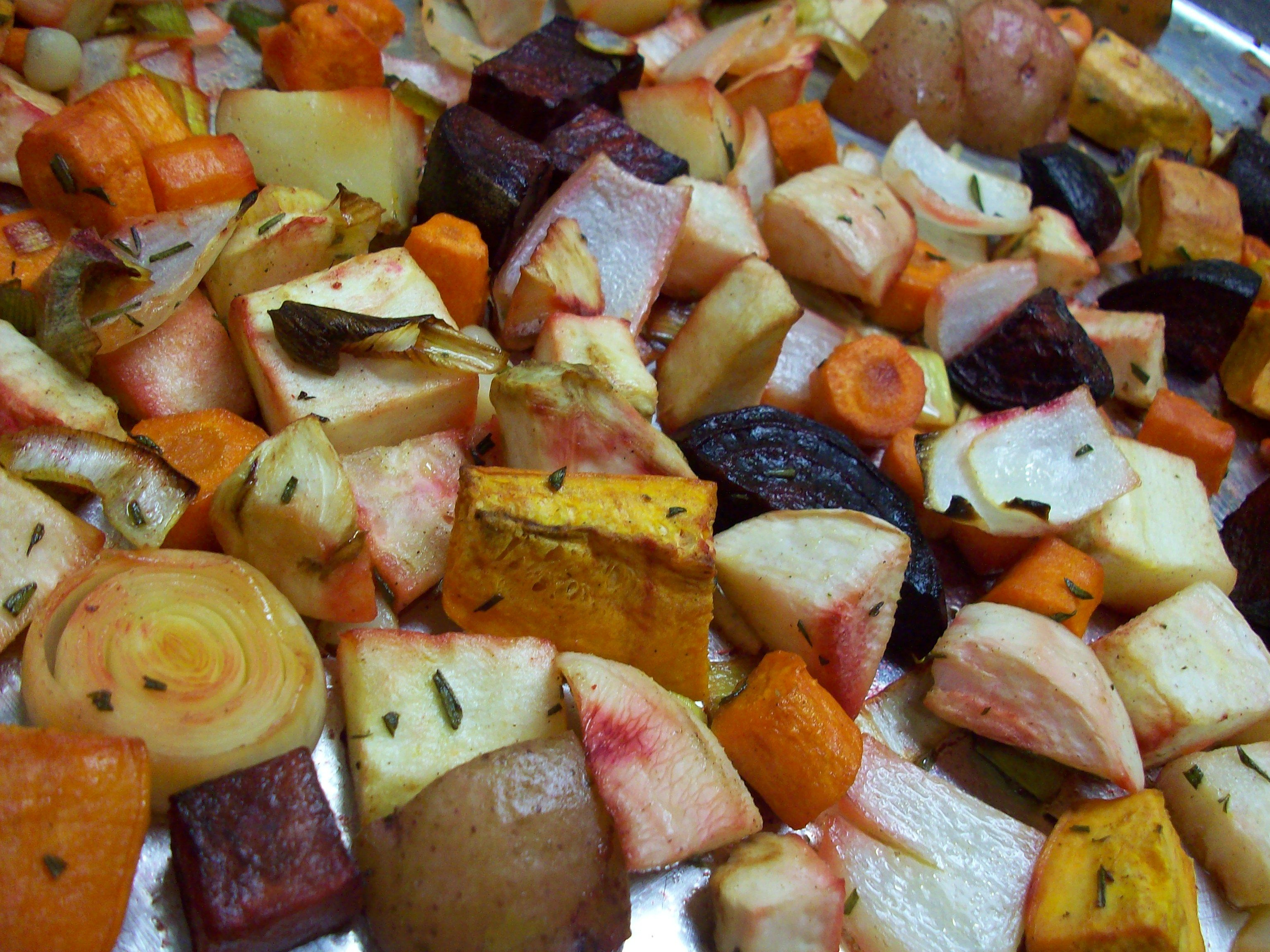 Roasted root vegetables at Lassens  lassensloves.com