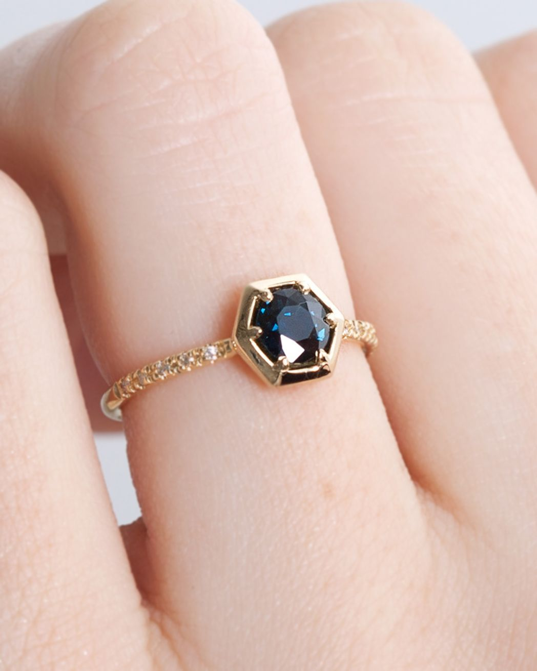 This Sapphire is such a beautiful saturated deep blue color. Set in ...