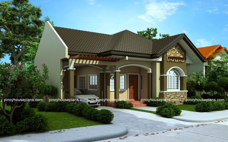 Bungalow house designs series, PHP2015016 is a 3bedroom