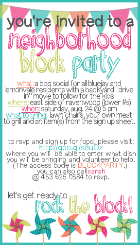 How to Throw a Block Party Printable Invitation Template Trade