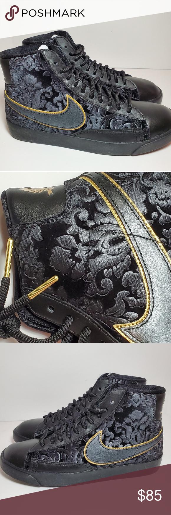 hablar tabaco vela  Women's Nike Blazer Mid Velvet Sz 7.5 or 8.5 DS | Nike blazer, Nike women,  Gold fashion