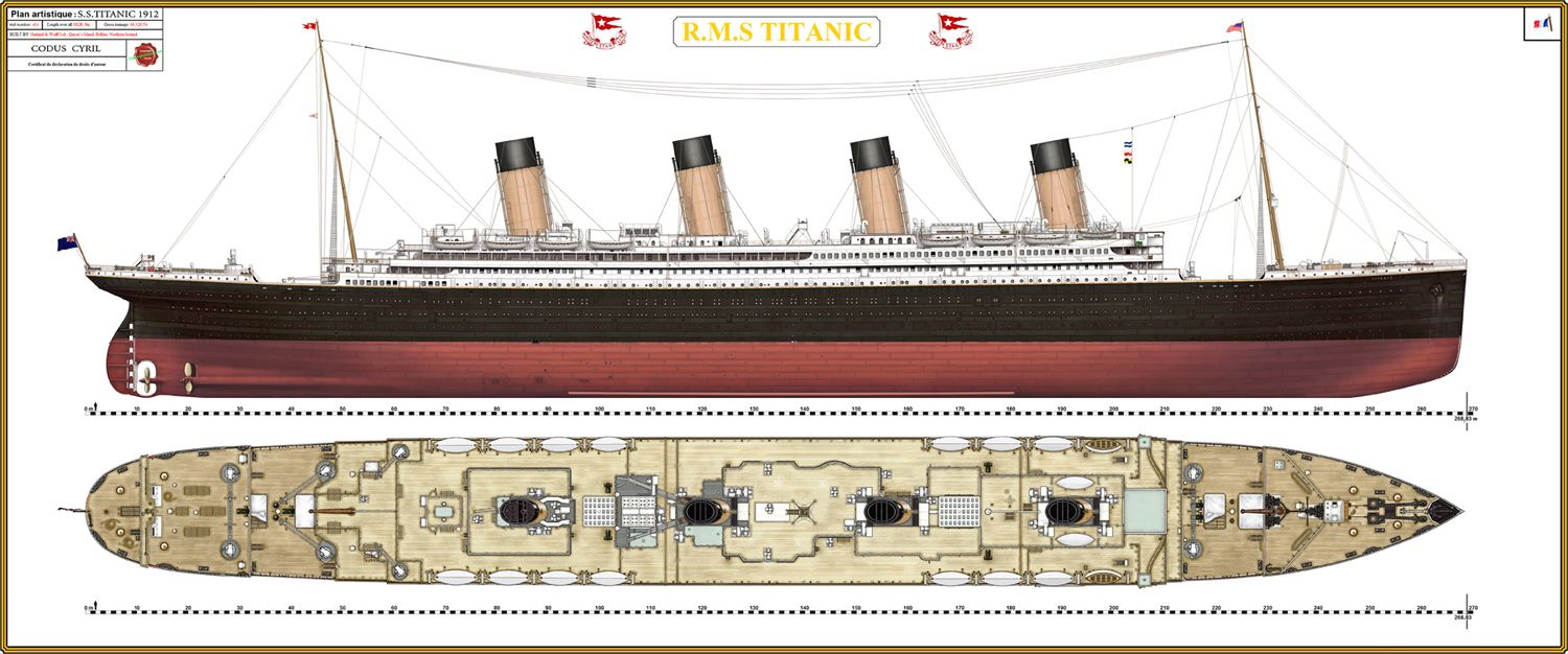 Titanic Plan Color