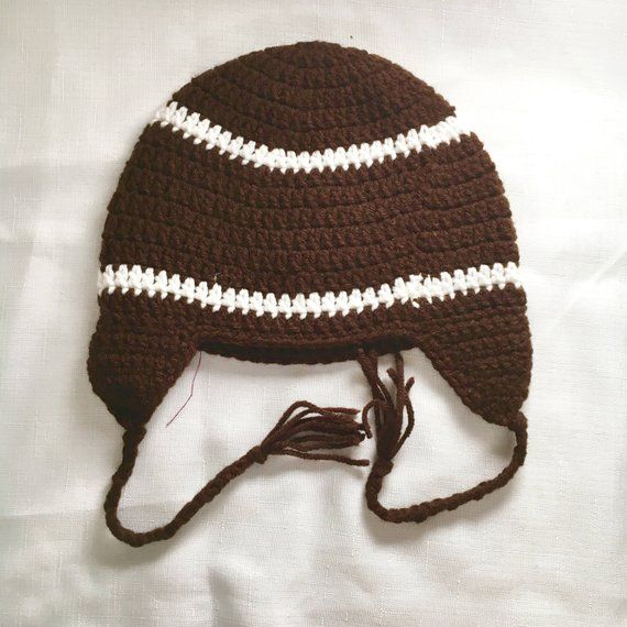 Children s Football Hat - Hats for Boys - Winter Hats - Beanies - Crochet -  Gifts for Baby - Baby Sh 1fb447566