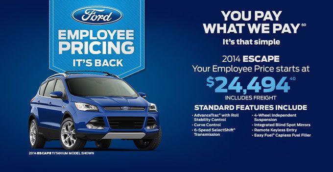 Fordescape Escape 2014escape Fordsale Fordemployeepricing