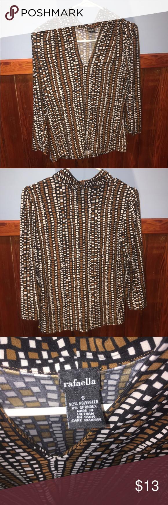 Comfy & classy blouse Brand is Rafaella. Size is small. Feels amazing!! Rafaella Tops Blouses