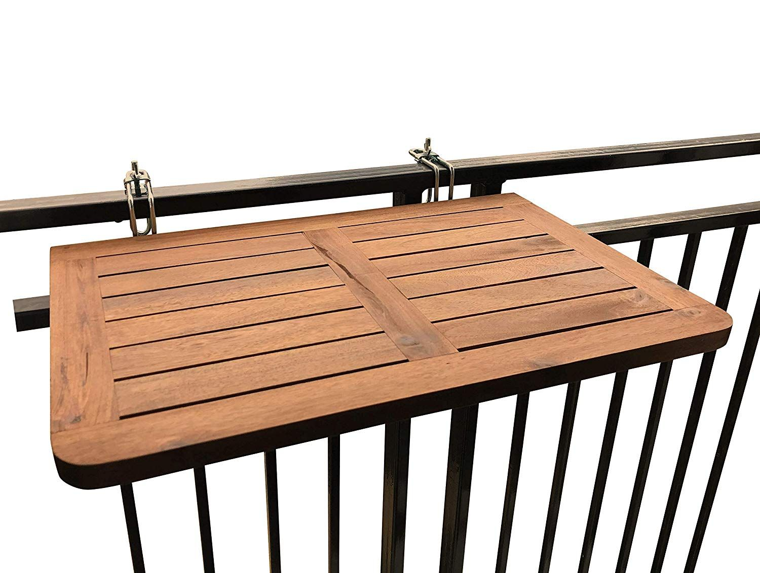 Balcony Table Hardwood Table Folding Table Hanging Railing Table Dining Garden Bbq Side Table Front Porch Christmas Decor Balcony Decor Hardwood Table