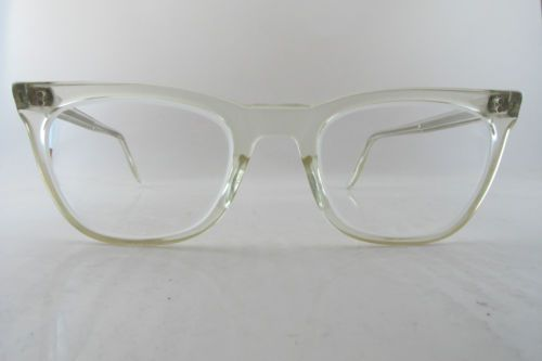 vintage nhs eyeglasses frames clear plastic frame nh mw made in england