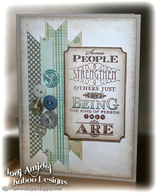 Stampin Up Card Kit Girl Encouragement Strengthen