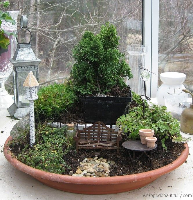 Miniature-Zen-Fairy-Garden-Article DIORAMAS Pinterest Mini