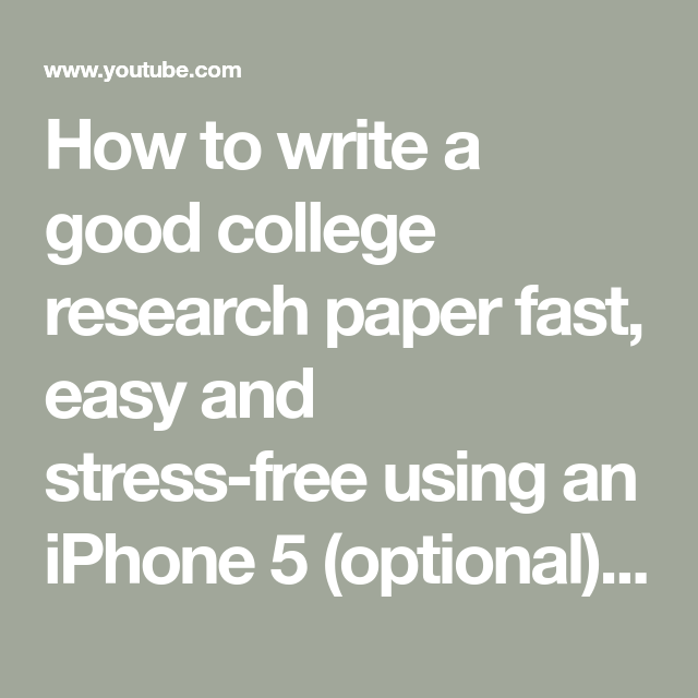Iphone research paper