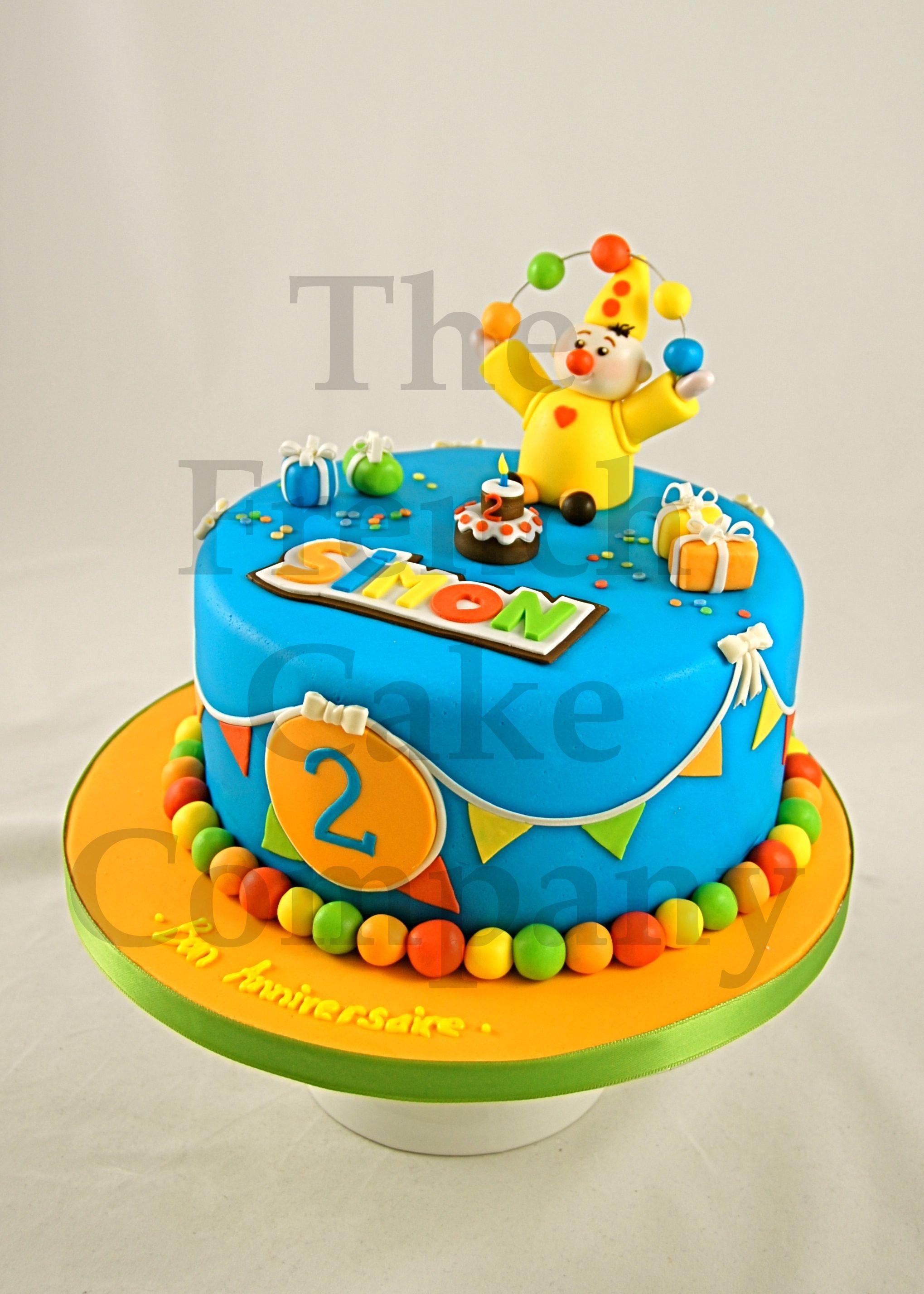 Childrens Birthday Cake Clown Gateau Danniversaire Pour Enfants
