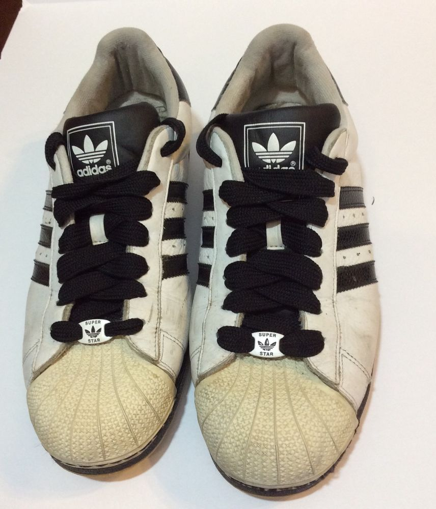 Adidas hombre  Superstar originales negro blanco Stripe shelltoe 2008