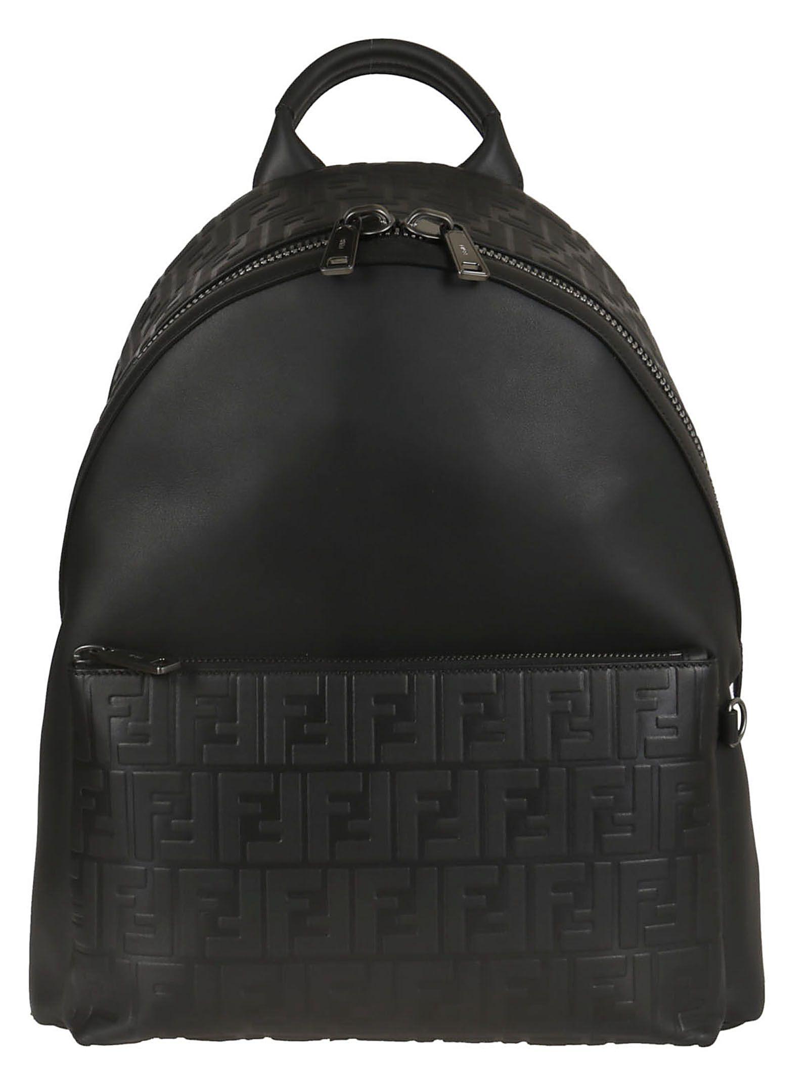 Backpack leather F fendi bags Double backpacks Logo Fendi wtSPW