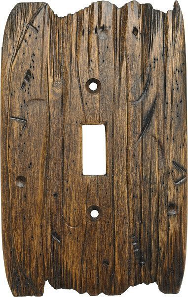 Light Switch Plate For The Home Rustic Bathroom Lighting