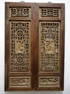 Rare 6 Panel Chinese Antique Carved Wooden Screen Room Divider Wooden Screen Chinese Antiques Antiques