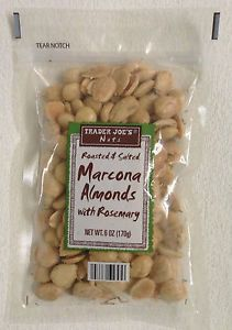 Trader Joe's Marcona Almonds with Rosemary Roasted Salted with Sea Salt 6oz