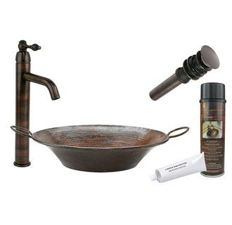 "View the Premier Copper Products BSP1_VR16MPDB 16"" Miners Pan Vessel Sink with…"