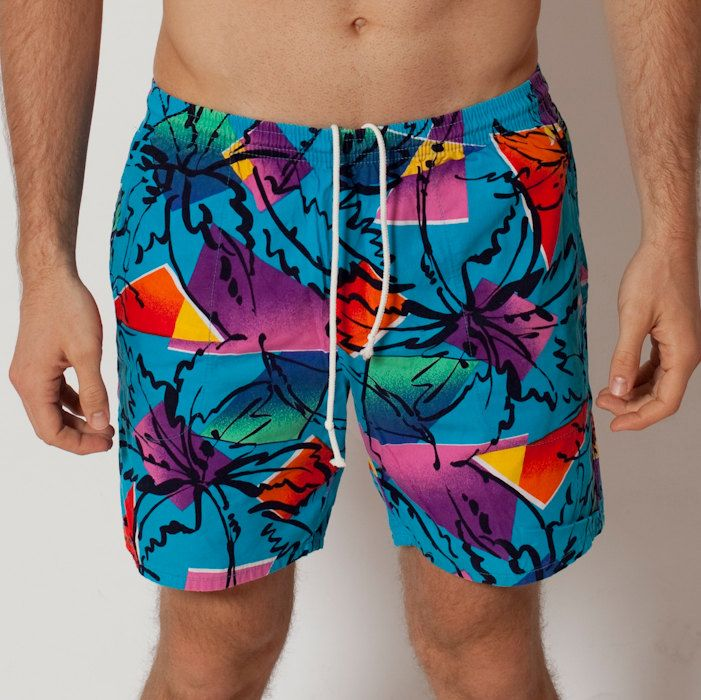39f1e27e69 AMAZING Beach Summer Shorts - Visual Effects - 80s Fashion - Men's Style -  Colorful Surf
