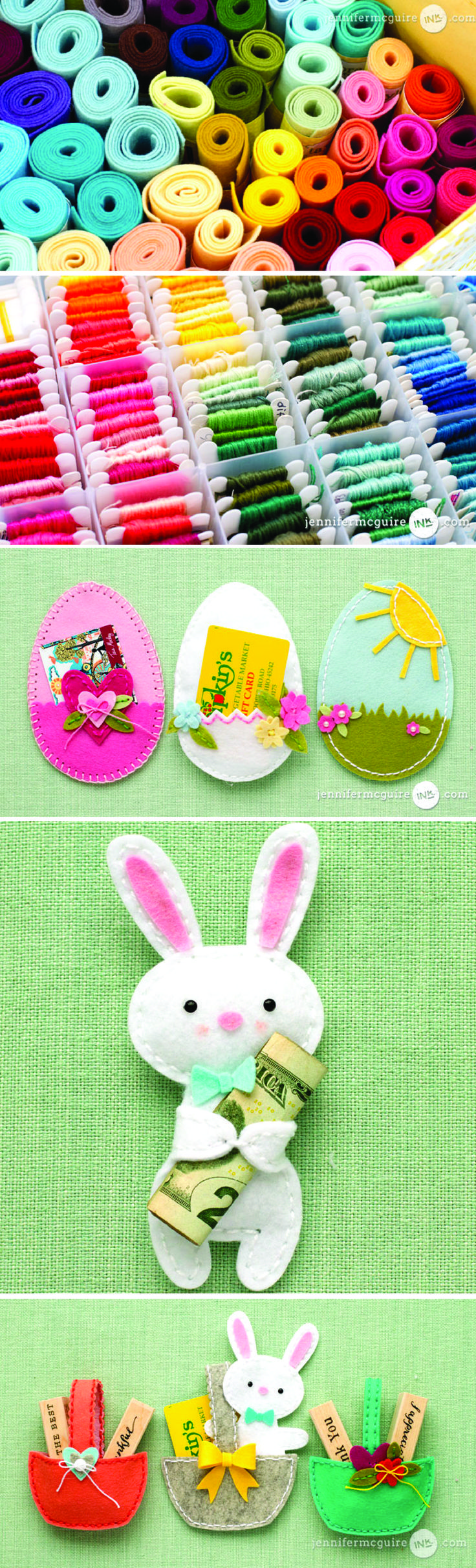 Stitching felt die cut tips giveaway money holders easter easter crafts negle Gallery