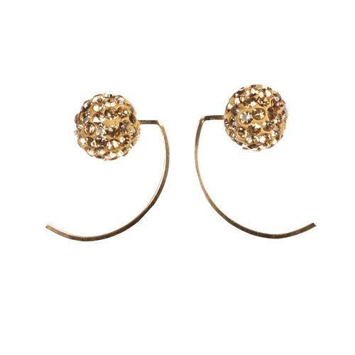 Crystal Ball Earrings $36 via boutiika.com