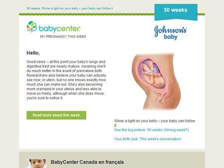 como esta mi bebe a las 30 semanas de embarazo