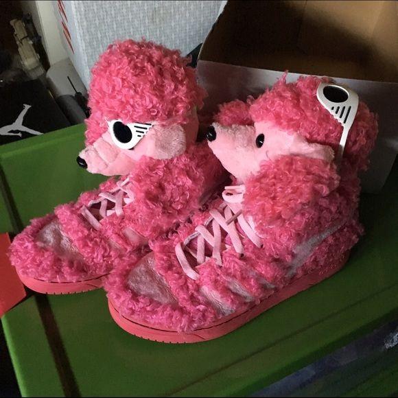 Adidas Jeremy Scott Pink Dog shoes | Pink dog, Dog shoes, Pink adidas
