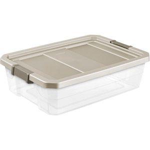 Sterilite 10-Gallon (40-Quart) Stacker Storage Bins Clear/Nickel Set of 6  sc 1 st  Pinterest & Sterilite 10-Gallon (40-Quart) Stacker Storage Bins Clear/Nickel ...