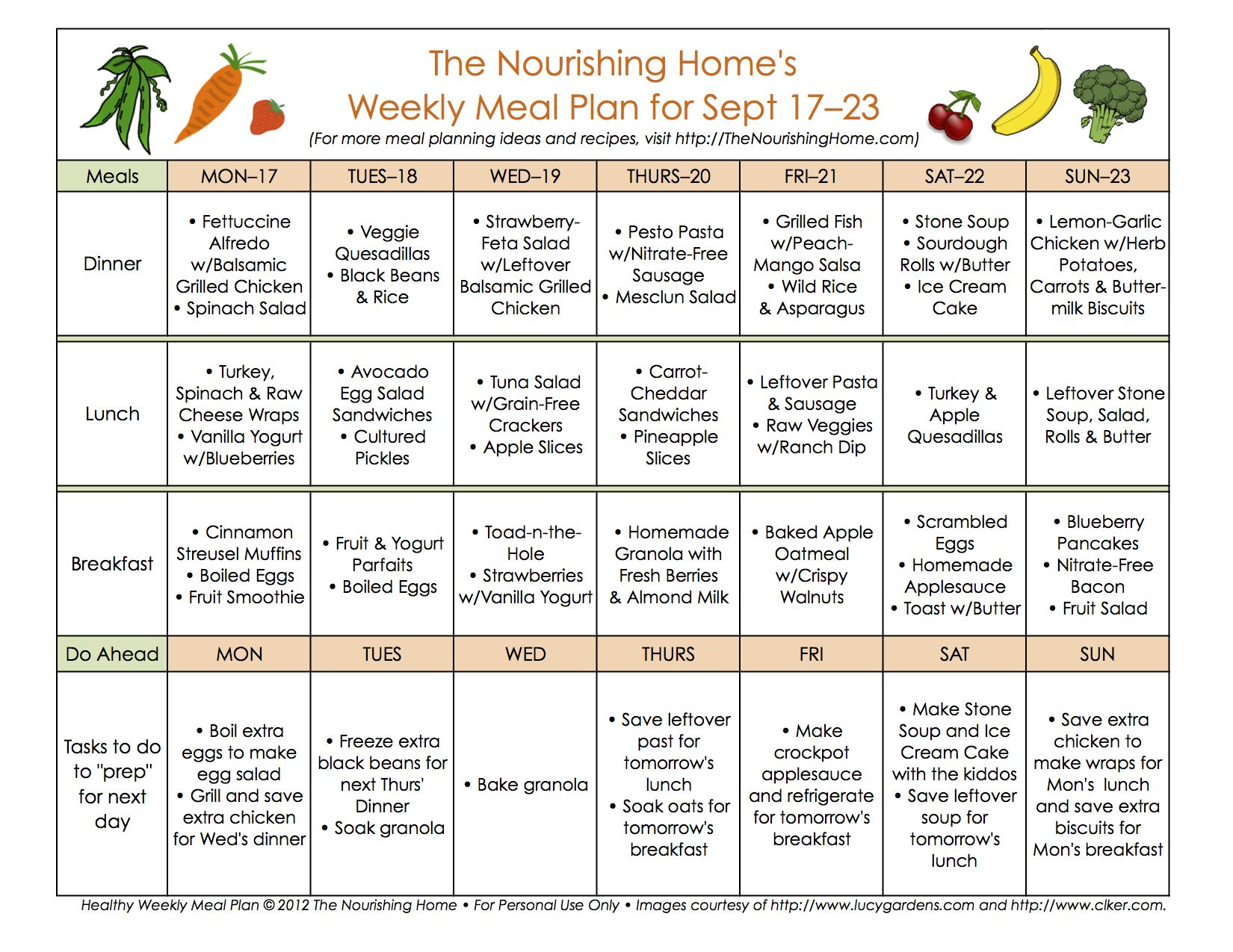 71 best ideas about The Nourishing Home on Pinterest | Weekly meal ...