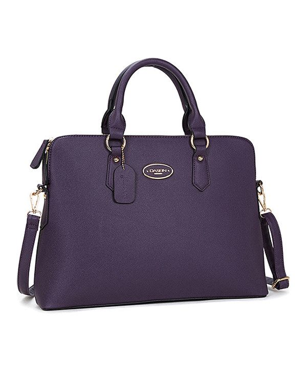 Look at this Dasein Purple Slim Briefcase on #zulily today!