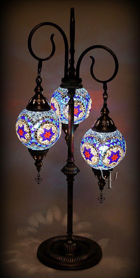 Mosaic Floor Lamp...I love this! Definitely looks like