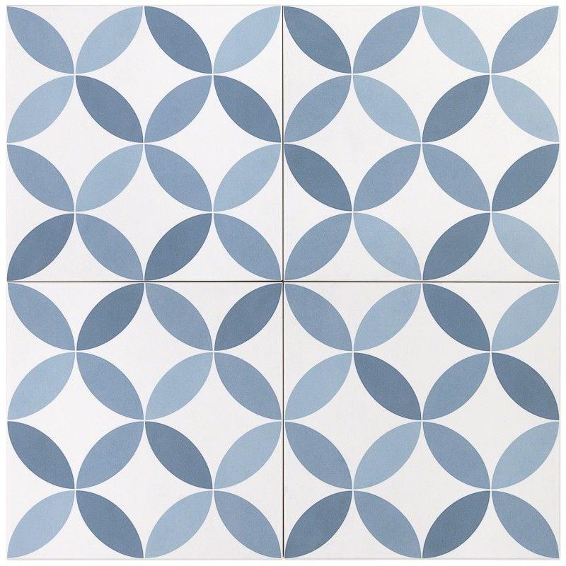 norwalk floor deco blue 8x8 matte