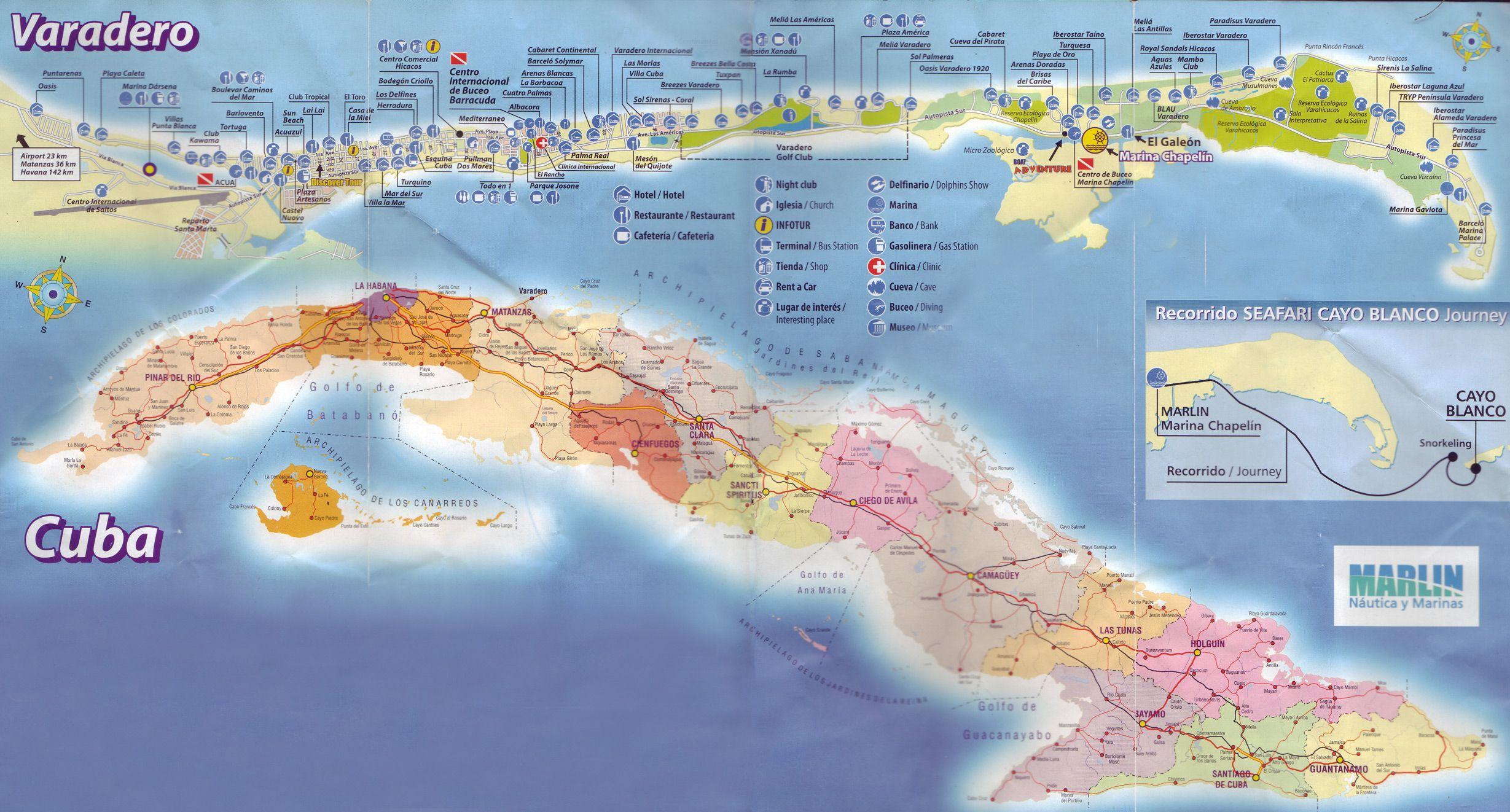 Map Of Varadero Varadero. It's a peninsula in the north of Cuba.   Cuba   My