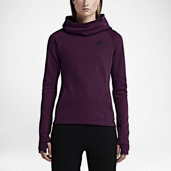1ec975eb5b28 NWT Nike Fleece Purple Funnel Neck Sweatshirt This Nike Tech Fleece Women s  Hoodie is super soft and keeps you very warm with thermal cloth.